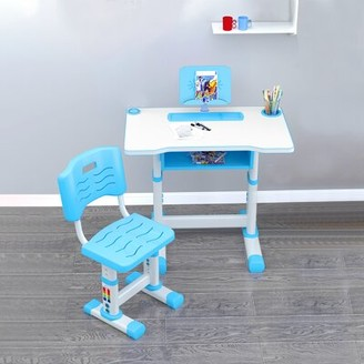 """Isabelle & MaxTM Elissa Children Study 27.5"""" Writing Desk and Chair Set Isabelle & Max Color: Blue"""