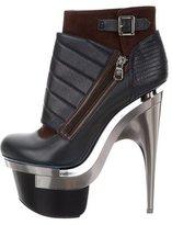 Versace Quilted Platform Booties