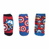 Asstd National Brand 3-pc. Captain America Low Cut Socks - Womens