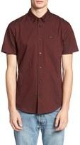 RVCA Men's 'That'Ll Do' Slim Fit Short Sleeve Oxford Shirt