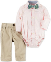 Carter's 3-Pc. Bowtie, Shirt Bodysuit & Twill Pants Set, Baby Boys (0-24 months)
