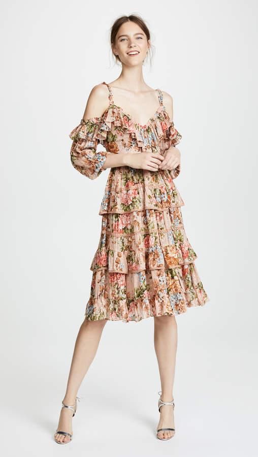 Needle & Thread Paradise Rose Shimmer Dress