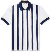 Alexander Mcqueen - Slim-fit Grosgrain-striped Cotton-piqué Polo Shirt