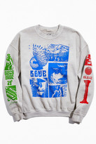 Urban Outfitters Collage Overdyed Crew Neck Sweatshirt