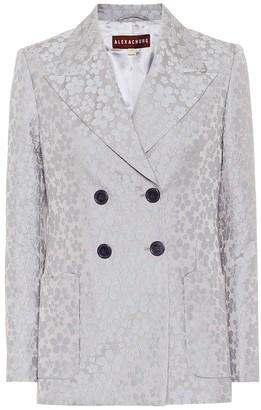 ALEXACHUNG Bridget daisy jacquard jacket