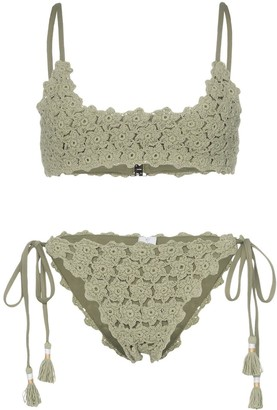 She Made Me Maalai crochet bikini