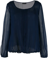 Emporio Armani shift blouse - women - Silk/Polyester - 42