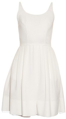 Sophie Theallet Michelle Diamond-jacquard Pleated Dress - Womens - White