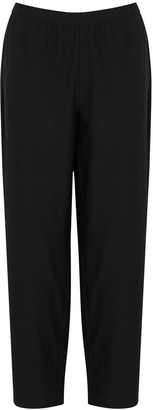 Eileen Fisher Black Cropped Tapered Trousers