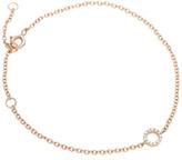 Jan Logan 18ct Rose Gold Diamond Mini Circle Bracelet