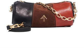Atelier Manu Cylinder Mini Leather And Suede Shoulder Bag