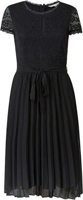 Yumi Curves Black Keyhole Lace Skater Dress
