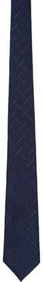 Burberry Navy Manston Monogram Tie