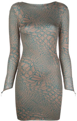 MAISIE WILEN Fitted Graphic-Print Dress