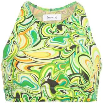 Nomia Neon Swirl printed bikini