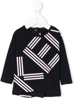 Kenzo logo long sleeved T-shirt - kids - Cotton/Spandex/Elastane - 3 mth