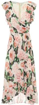 Costarellos Floral georgette midi dress
