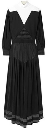 Givenchy Open-back Two-tone Jersey Maxi Dress