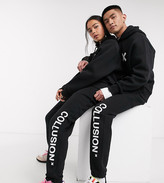 Thumbnail for your product : Collusion Unisex logo jogger in black