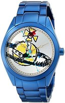 Vivienne Westwood Women's VV072SLNV St. Paul's Analog Display Swiss Quartz Blue Watch