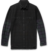 Sacai - Checked Cotton-flannel Shirt