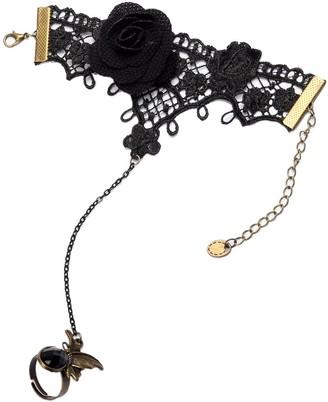 BLESSUME Victorian Steampunk Wrist Cuff Gear Bracelet (H)
