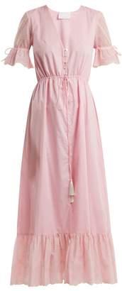 Athena Procopiou - Julia Button-front Dress - Womens - Light Pink