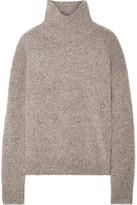 Vince Donegal Cashmere Turtleneck Sweater - Mushroom