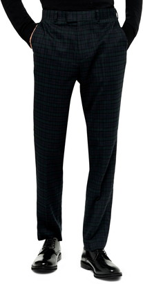 Topman Bampton Check Slim Fit Suit Pants