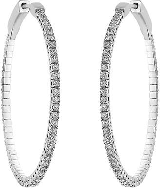 Diana M Fine Jewelry 18K 1.53 Ct. Tw. Diamond Hoops