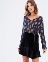 Living Doll Velvet Flip Skirt