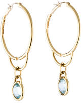 Michele Topaz Drop Hoop Earrings