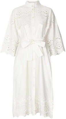 Lollys Laundry - Tumi White Broderie Dress - X Small