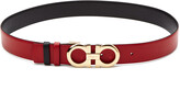 Salvatore Ferragamo Double Gancini Adjustable & Reversible Leather Belt