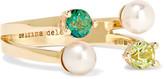 Delfina Delettrez 9-karat Gold, Topaz And Freshwater Pearl Ring