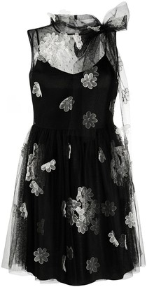 RED Valentino Floral Applique Tulle Dress