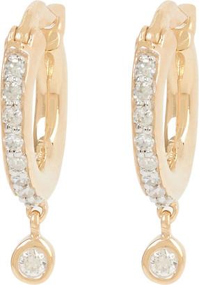Adina Pave Diamond Drop Huggie Hoop Earrings