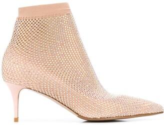 Le Silla Gilda crystal-embellished boot pumps