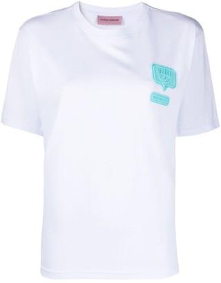 Chiara Ferragni logo patch T-shirt