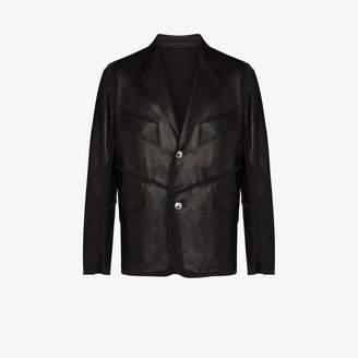 Sulvam Le Jersey Leather Jacket