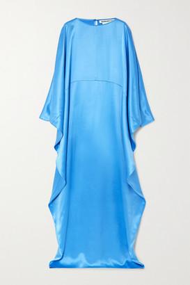 BERNADETTE Gio Draped Silk-satin Maxi Dress - Blue