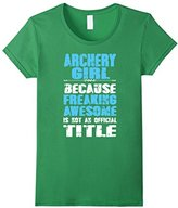 Kids Archery shirt - Freaking awesome archery girl 6