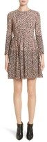 Burberry Women's Karinkalt Leather Trim Print Dress