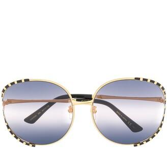 Gucci Oversized Round Frame Sunglasses
