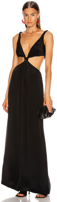 Dion Lee Loop Knot Gown in Black | FWRD