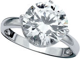Crislu Ring, Platinum Over Sterling Silver Round Cut Solitaire Cubic Zirconia Ring (4-1/6 ct. t.w.)