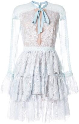 Ingie Paris long-sleeve ruffle dress