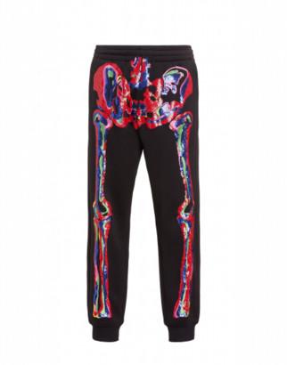 Moschino Skeleton Jersey Jogging Man Black Size 50 It - (34 Us)