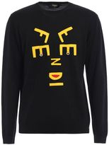 Fendi Abstract Letter Sweater