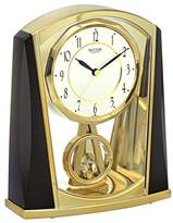 rhythm 7772-9 Floor Clock Analogue 7772 Metallic Grey / Gold Colour